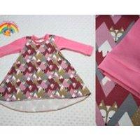 RM 912M. Animal mountain dress, baby clothes, baby woodland dress, twirly dress, pink dress, party dress, play dress, winter snow - Seek Gifts
