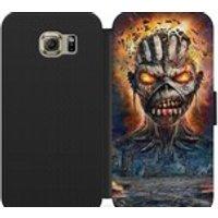 Iron maiden Eddie PSU leather flip wallet phone case for iphone 4 5 6 7, Samsung s2 s3 s4 s5 s6 s7 S8 S8 plus and more - Iron Maiden Gifts
