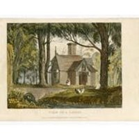 Garden Architecture Print, View of a Lodge by John Papworth, Architect, and Artist, Published by R. Ackermann. 1821 Hand Coloured Aquatint. - Artist Gifts