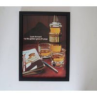 Vintage Langs Old Scotch Whisky Advert Framed, Old Fashioned Drink Poster, Wall Art Decor Office Man Cave, Unique Sentimental Gift Him Her - Sentimental Gifts