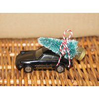 Altered Large Vintage Corgi Porsche Carrera Toy Collectible Car With Christmas Tree, Christmas, Ornament, Decoration, Stocking Filler, Gift - Porsche Gifts