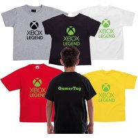 Kids XBox Legend Player Youtuber Fan Bro Viral tdm Personalised GameTag children T shirt Tee  Free UK Delivery - Xbox Gifts