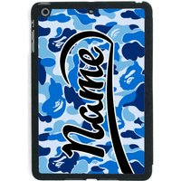 Blue Camouflage Print / Personalised iPad Smart Case - Ipad Gifts