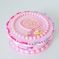 Polly Pocket Birthday Surprise  1994  Birthday Cake  With Doll  Ribbon  Accessories - Polly Pocket Gifts