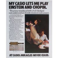 Casio ML720 Music Card Electronic Calculator 1979 Vintage Magazine Advert - Electronic Gifts