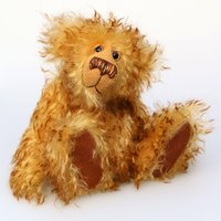 Bonzer is a sweet, slightly sad yet very friendly, one of a kind, artist teddy bear made from wonderful mohair by BarbaraBears - Artist Gifts