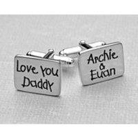 Handmade Personalised Silver Cufflinks    Fathers Day Cufflinks  Personalised Fathers Day Gift  Sterling Silver Dad Cufflinks - Handmade Gifts