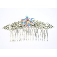 Grace  Vintage style Bridal hair Comb with Clear AB Swarovski Navette crystals - Hair Gifts