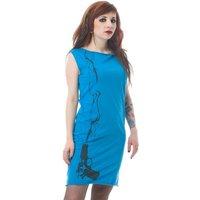 Smoking Gun Print Blue Mini Dress Tunic S M L - Smoking Gifts