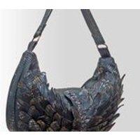 Leather Hobo style handbag Winged Midnight Hobo - Handbags Gifts