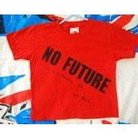 Childrens Punk Sex Pistols  NO FUTURE  Kids red Tshirt  Age 1 to 2  boys gift - Sex Pistols Gifts