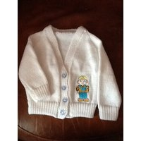 Hand knitted baby cardigan with Bob the Builder embroidery - Bob The Builder Gifts