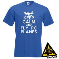 Keep Calm And Fly RC Planes TShirt Joke Funny Tshirt Tee Shirt Gift Aeroplane Model Radio Controlled Control Aircraft - Rc Gifts