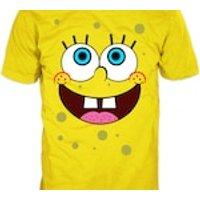 SPONGEBOB SQUAREPANTS Happy Face Tshirt.  Gildan Yellow Tee. 100% cotton. - Spongebob Squarepants Gifts