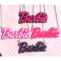 Retro Barbie glitter necklace - Barbie Gifts