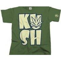 Kush Leaf Cannabis Tshirt (Olive) From Dibbs - Cannabis Gifts