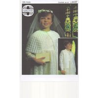 Girls Crochet First Communion Cape and Cardigan, Communion Cardigan, Holy Communion Dress, Girls Crochet Communion Cape, 4ply Communion Cape - First Holy Communion Gifts