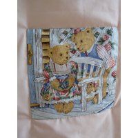 Baby quilt,Teddy bears,Peach coloured quilt, Applique teddy bears quilt, Cot quilt, Peach/cream coloured quilt, Pretty quilt, Cosy quilt - Teddy Bears Gifts