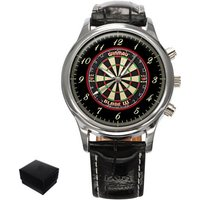 Darts Dartboard Gents Mens Wrist Watch  Gift engraving - Darts Gifts