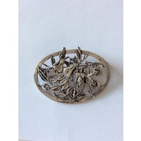 Arts and Crafts style pewter brooch pin - Arts And Crafts Gifts