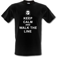 JOHNNY CASH Keep Calm and Walk the Line Man in Black 100% Cotton tshirt All Sizes Small  XXL (kids and adults) - Johnny Cash Gifts