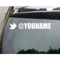 Custom Twitter Username Vinyl Decal Sticker (set of 2) - Computers Gifts