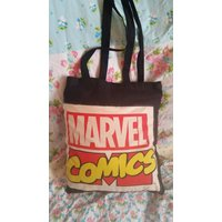Marvel comics wolverine retro kitsch totally reworked by hand tote,  eco, cotton canvas bag.comicon - Wolverine Gifts