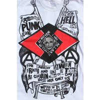Westwood Anarchist Punk Gang Tshirt  Sex Pistols tshirt  Skull tee  Create hell  M38 - Sex Pistols Gifts
