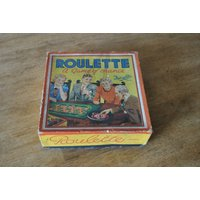 Vintage English board game Roulette by Fairylite circa 1940/50s - Roulette Gifts