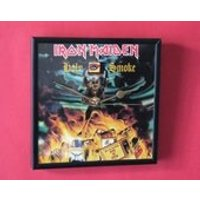 Iron Maiden holy smoke  7 framed record cover clock - Iron Maiden Gifts