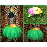 Girls Katy Perry Roar Costume Jungle Tutu Green Forest Fairy Tutu Spikey Leaves Kids Tutu With Flower Headband - Katy Perry Gifts