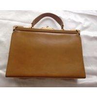 Tan leather Garfield of London vintage bag - Garfield Gifts