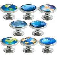 Globes Decorated Polished Chrome 38mm Drawer Cupboard Cabinet Knobs - Chrome Gifts