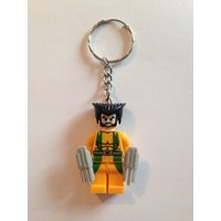 Superhero Minifigure Keyrings  Wolverine - Wolverine Gifts