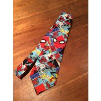 Spider Man Marvel Camelot Comic Strips Hand Made Tie - Spider Man Gifts
