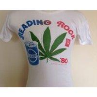 Reading Rock 1980 festival T Shirt, iron maiden, gillan, whitesnake, slade. - Iron Maiden Gifts
