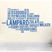 Chelsea FC word cloud wall sticker - Chelsea Gifts