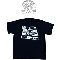 PRETTY VACANT Sex Pistols  Punk Tshirt Boredom  Nowhere Buses Inside Out Black  Blue XL42 - Sex Pistols Gifts