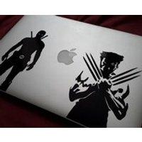 Deadpool or Wolverine Silhouette Logo Vinyl Decal Bumper Sticker Graphic for Car Laptop Macbook Motorbike  X Men Wade Wilson Logan - Wolverine Gifts