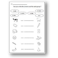 Learn Basic FRENCH VOCABULARY with School WORKSHEET / Matching  Writing Activity French for Kids / French language Teaching Resource - Activity Gifts