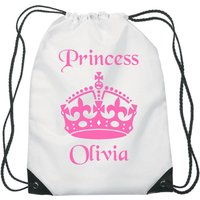 Princess Drawstring Swimming, School, PE Bag For Children Personalised - Swimming Gifts