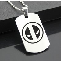 Deadpool Stainless Steel Dog Tag Military Pendant Jewellery Cosplay Superhero Marvel Captain America XMen Iron Man, Guardians Of The Galaxy - Iron Man Gifts