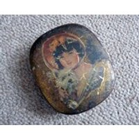 Vintage Antique Horner Dainty Dinah Biscuit Tin  Girl with Scottie Dog Art Nouveau / Arts and Crafts - Arts And Crafts Gifts