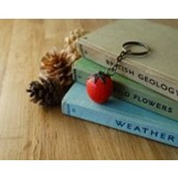By the Shed Strawberry Keyring  Red  Gardening Gift, Present  Good Life, Grow your Own, Hedgerow, Allotment, Vegetarian  Key Chain Charm - Grow Your Own Gifts