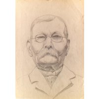 AUGUSTUS JOHN  original vintage pencil drawing  c1950s (Important 20th Century British artist) - Artist Gifts
