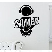 Large Gamer  Xbox PS Wii Fan  Bedroom Decal Wall Art Sticker Picture G4 - Wii Gifts