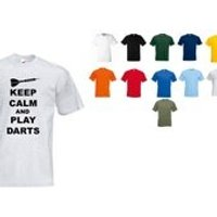 Keep calm and play darts tshirt  adult mens ladies cool unique fashion - Darts Gifts