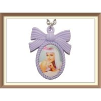 Katy Perry Inspired Cute Bow Cameo Necklace / Teenage Dream / Firework / Roar / Katy cats - Katy Perry Gifts