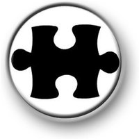 JIGSAW / 1 / 25mm / pin button / badge / novelty / funny / puzzle piece / odd / retro - Jigsaw Gifts
