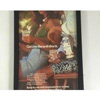 Vintage Bacardi Framed Advert, Framed Drink Rum Poster, Man Cave Restaurant Cafe Bar Wall Decor, Unique Gift For Him Her Bacardi Lover - Bacardi Gifts